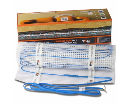 Нагревательный мат Теплый пол №1, 150 вт, 1 кв.м., под плитку ТСП-150-1.0