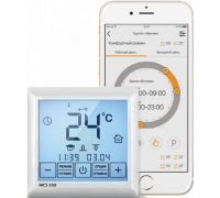Терморегулятор Теплолюкс MCS 350 2156347 Wi-Fi проводной, программируемый, белый