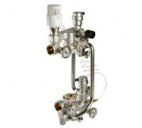 Valtec насосно-смесительный узел с термоголовкой, без насоса, монтажная длина насоса 180 мм, VT.COMBI.0.180