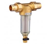 Фильтр с прямоточной промывкой, Honeywell, Braukmann FF06-1AA, на холодную воду (до 40грС), - прозрачная колба, 1, Ру16, сетка 100 мкм