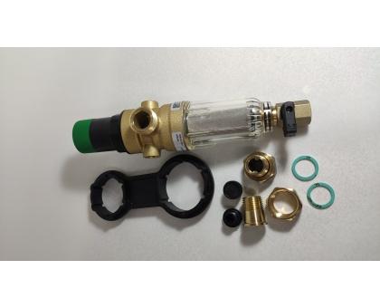 Braukmann (Honeywell) 1/2 фильтр промывной для ХОЛОДНОЙ воды с регулятором давления, FK06-1/2AA